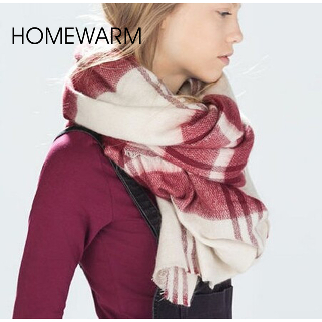 foulard femme women scarf oversized flouard knitted women cashmere high quality shawls and scarves plaid blanket scarf