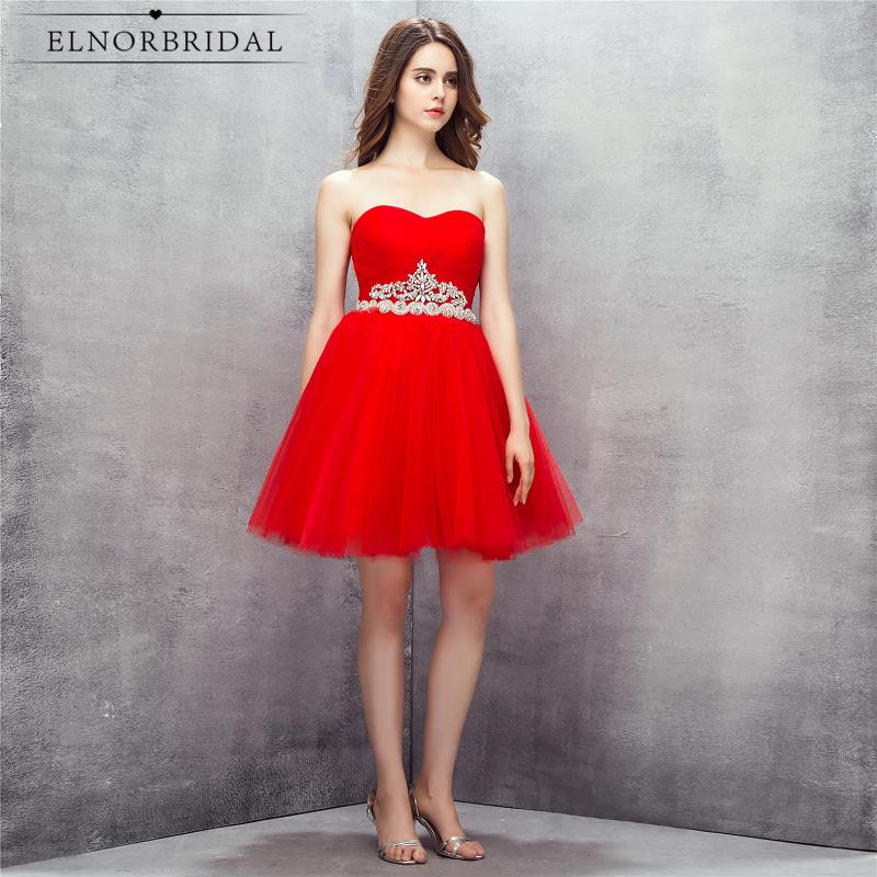 Cheap Red Short   Prom     Dresses   2019 Sexy Vestido De Festa Curto Formal Evening   Dress   Mini Sweetheart Cocktail Party Gowns