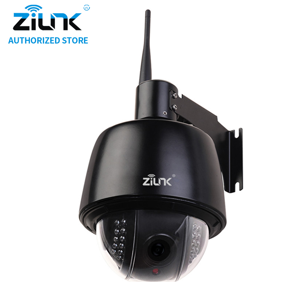 ZILNK 960P HD PTZ Speed Dome Camera 5x Optical Zoom Waterproof WiFi IP Camera Support TF Card Motion Detection ONVIF H.264 Black 7 waterproof middle speed ptz ip dome camera 150m ir night vision 20x optical zoom ip66 4mp ptz ip dome camera with wiper