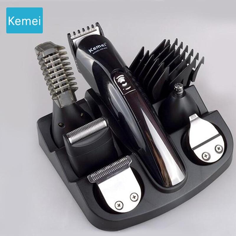 Kemei 6 in 1 trimmer barba trimero barba tagliatore di Capelli taglio di Macchina dei capelli Trimero Tagliatore di taglio dei capelli macchina Taglierina Elettrica 5