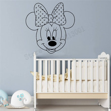 Mickey Wall Sticker Cartoon Animal Kidsroom Decor Vinyl Art Removeable Poster Mural Nursery Mouse Cute Lovely Decals LY1102