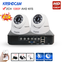 KRSHDCAM 4CH AHD DVR Security CCTV System 30M IR 2PCS 1080P CCTV Camera Home Indoor Camera
