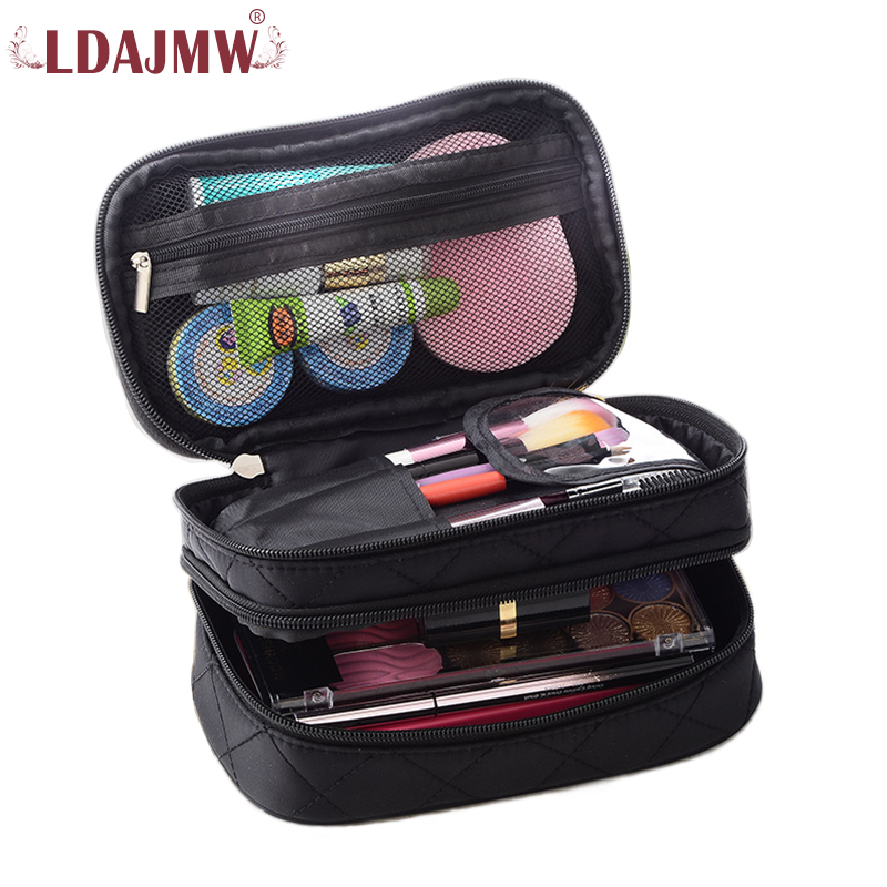 Ldajmw Portable Double Waterproof Toiletry Cosmetic Bag Makeup Storage Organizer Casual Handbag For Women And Men Travel Outdoor
