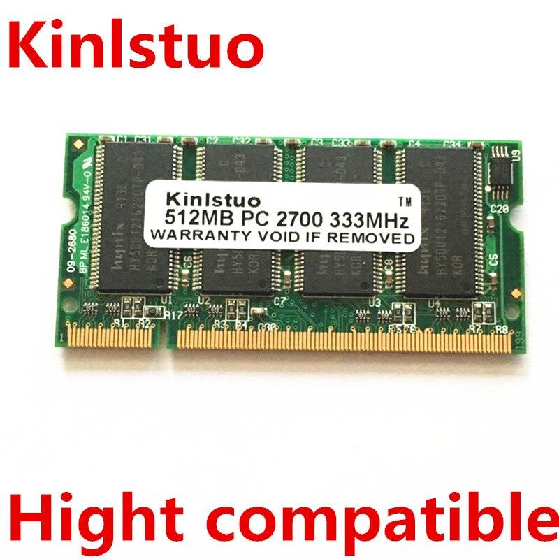 Gratis verzending 512 MB PC2700 PC2700S DDR PC 2700 333 MHZ CL2.5 RAM Laptop Geheugen 512 MB