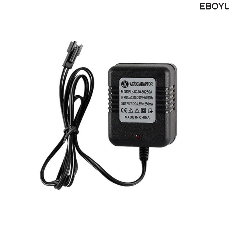 EBOYU DC <font><b>4.8V</b></font> 250mAh Ni-MH Ni-Cd AA Battery Pack Charger <font><b>Adapter</b></font> with SM 2P Plug for RC Toys Cameras AC 110-240V image
