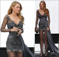 2016 Lace Beaded Hot Sale Gossip Girl Fashion Blake Lively Fashion Celebrity Dresses Evening Dress Famous Red Carpet Dresses
