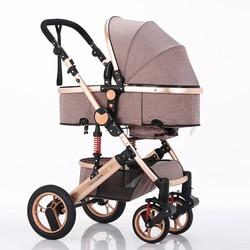 Zilemei cochecito de bebé de tela de lino de cochecito de alta diseño conveniente anti-mosquito diseño Sta
