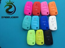 1 pc Silicone Autosleutel Case Cover Skin Voor Audi A1 A3 A4 Cabriole A6 TT Allroad Q3 Q7 R8 s6 SQ5 RS4 Remote Fob Flip Shell Beschermen(China)