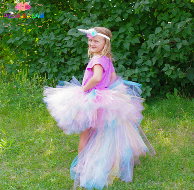 POSH DREAM Unicorn Bustle Tutu Skirts White Pink Lavender Halloween Costume Baby Infant Toddler or Little  sc 1 st  AliExpress.com : tutu halloween costumes for babies  - Germanpascual.Com