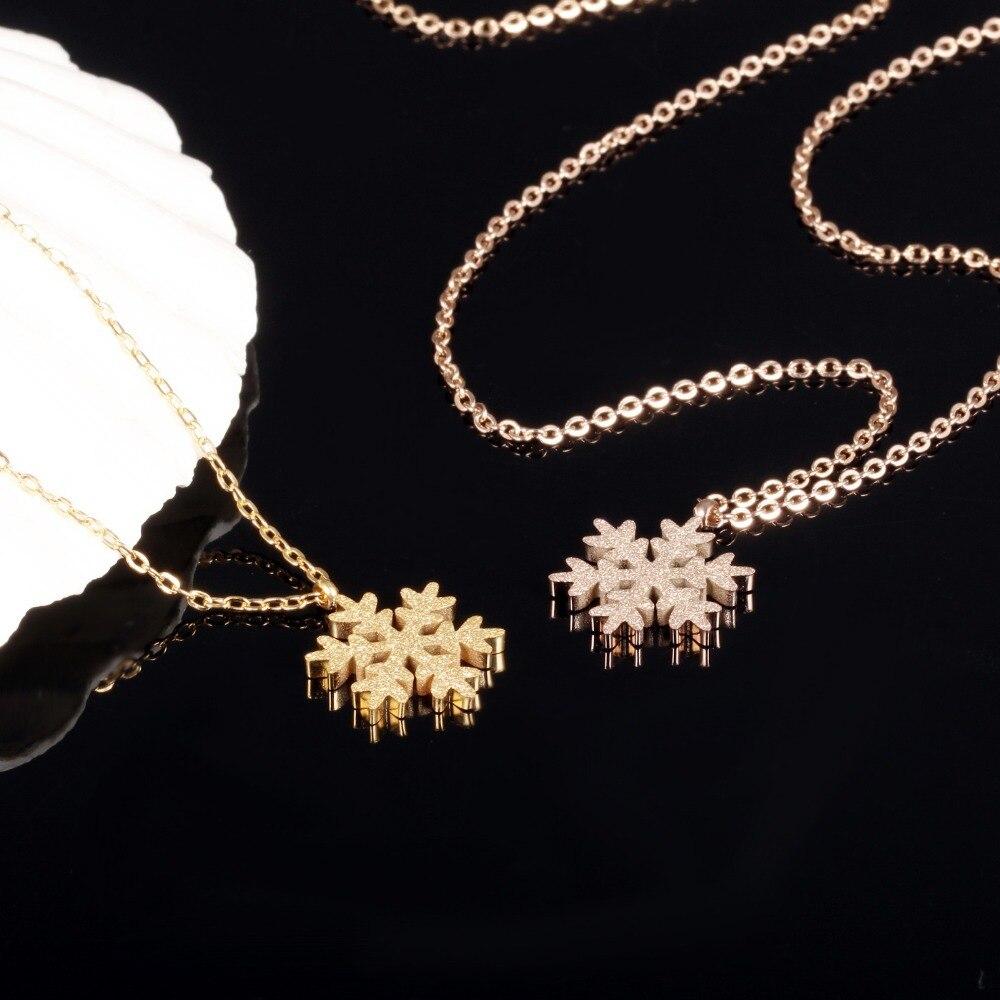 MS Titanium сталь, розовое золото матовое покрытие хлопья ожерелье ключицы аксессуары оптом