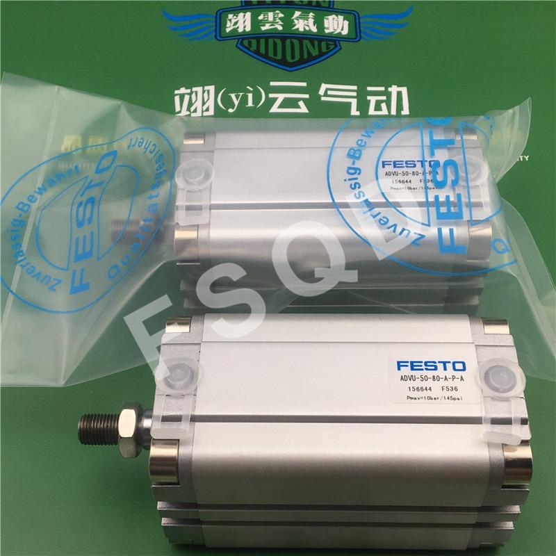 ADVU-50-70-A-P-A ADVU-50-80-A-P-A ADVU-50-100-A-P-A ESTO Compact cylinders pneumatic cylinder ADVU series