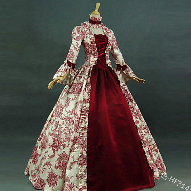 Cosplay Medieval Renaissance Gown Robe Palace Princess Dress <font><b>Adults</b></font> Vintage Evening Gown Lace Long <font><b>Sexy</b></font> Party <font><b>Halloween</b></font> <font><b>Costume</b></font> image