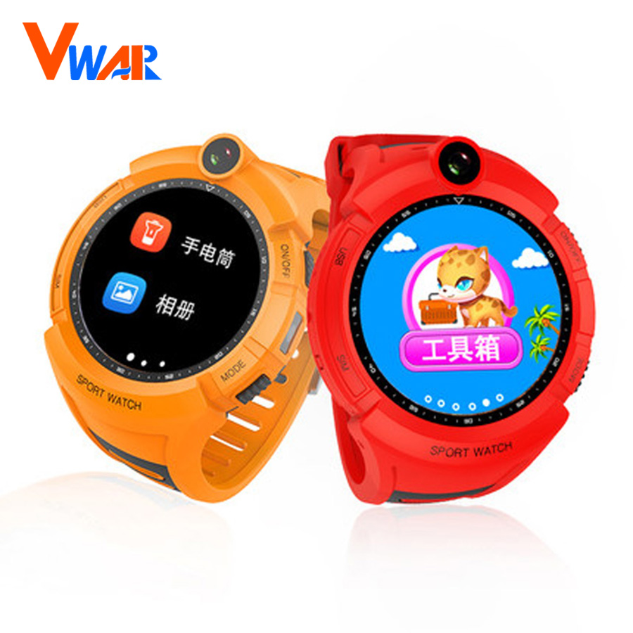 Vwar Q360 Kids Smart Watches With Camera Gps Location Child Touch Smartwatch Q50 Watch For Sim Card Black Screen Sos Anti Lost Monitor Tracker Baby