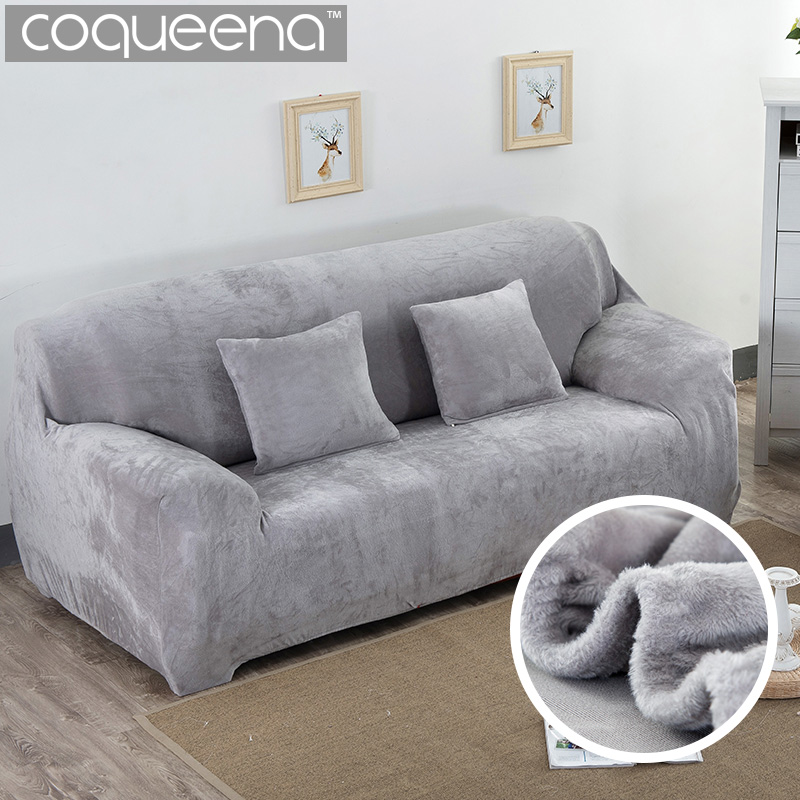 US $23.5 53% OFF|Super Soft Stretch Thick Plush Sofa Slipcover Couch  Armchair Covers Furniture Seater Protector for Winter & Spring Use, Form  Fit-in ...