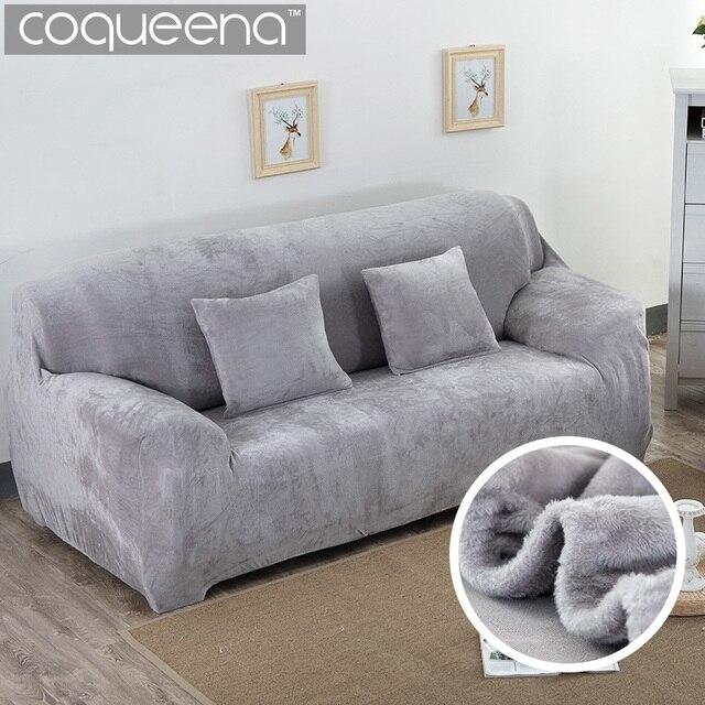 Tramo super suave felpa gruesa sofá funda de sofá sillón Tapas ...
