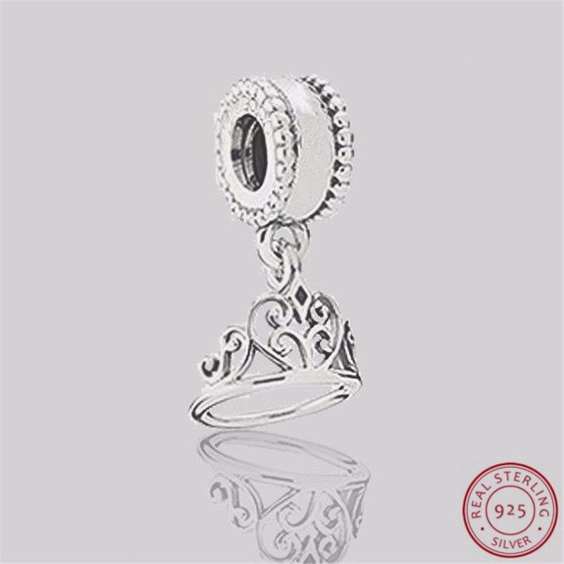 925 Sterling Silver Desney Snow White Tiara Pendant Charm