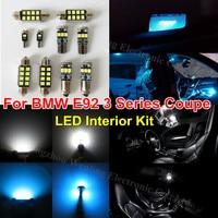 18pcs Ice Blue Pure White Canbus Lighting Car LED Interior Light Kit For BMW E92 Coupe