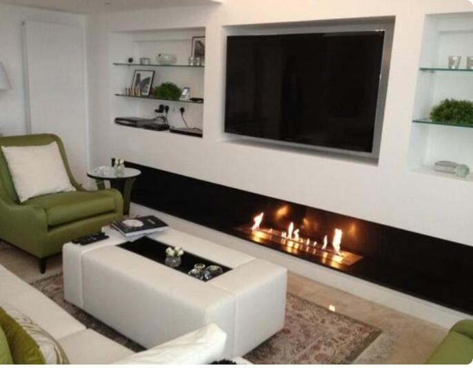 Inno Living Fire 48 Inch Bioethanol Fireplace With Remote Wifi Control