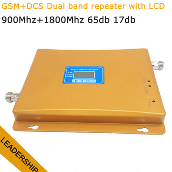 Dual band GSM/DCS cell/mobile phone signal repeater 900Mhz 1800mhz 65db 17db 2G 3G signal booster detector  amplifier