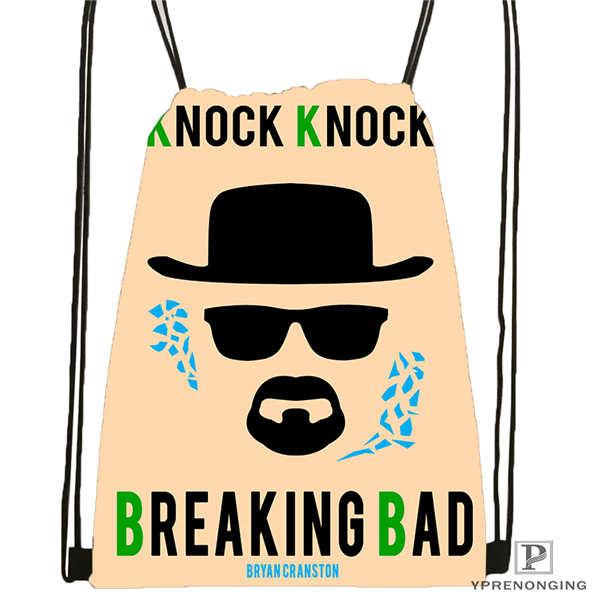 Custom breaking bad by luckino 1 Drawstring Backpack Bag Cute Daypack Kids Satchel Black Back 31x40cm