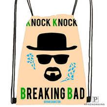 Custom breaking_bad_by_luckino!1  Drawstring Backpack Bag Cute Daypack Kids Satchel (Black Back) 31x40cm#2018611-2(4)
