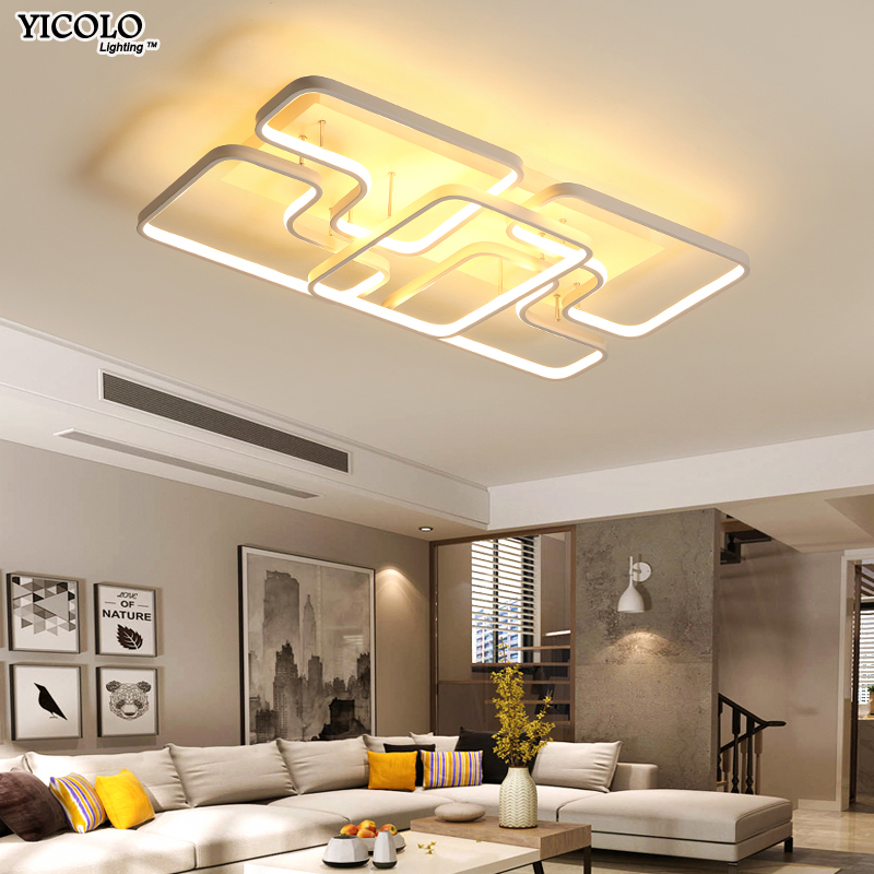 Remote control Led Ceiling Lights Modern Surface Mounted lamparas de techo Square acrylic Ceiling lamp lamparas luminaria teto