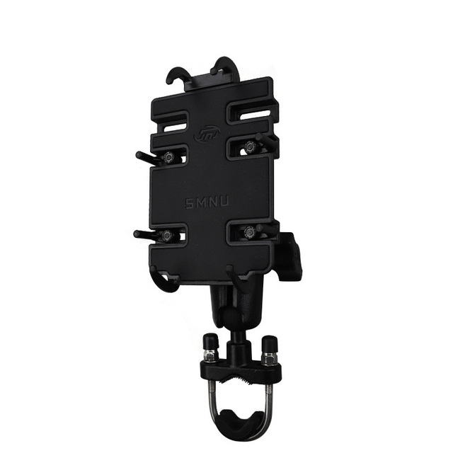 Motorcycle and Bicycle Universal Handlebar Mount Grip Holder for iPhone XS, XR, Galaxy S8/S9 Plus, Note 9 etc
