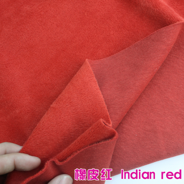 Indian Red Cotton Polyester Velour Knit Fabric Luxurious Kid Wear Super Soft Extra Plush Stretchy 60 Wide Sold By The Yard
