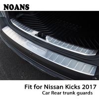NOANS For Nissan Kicks 2017 Auto Car Rear Trunk Door Bumper Anti Scratch Strips Stainless Steel Accessories|Trunk trim| |  -