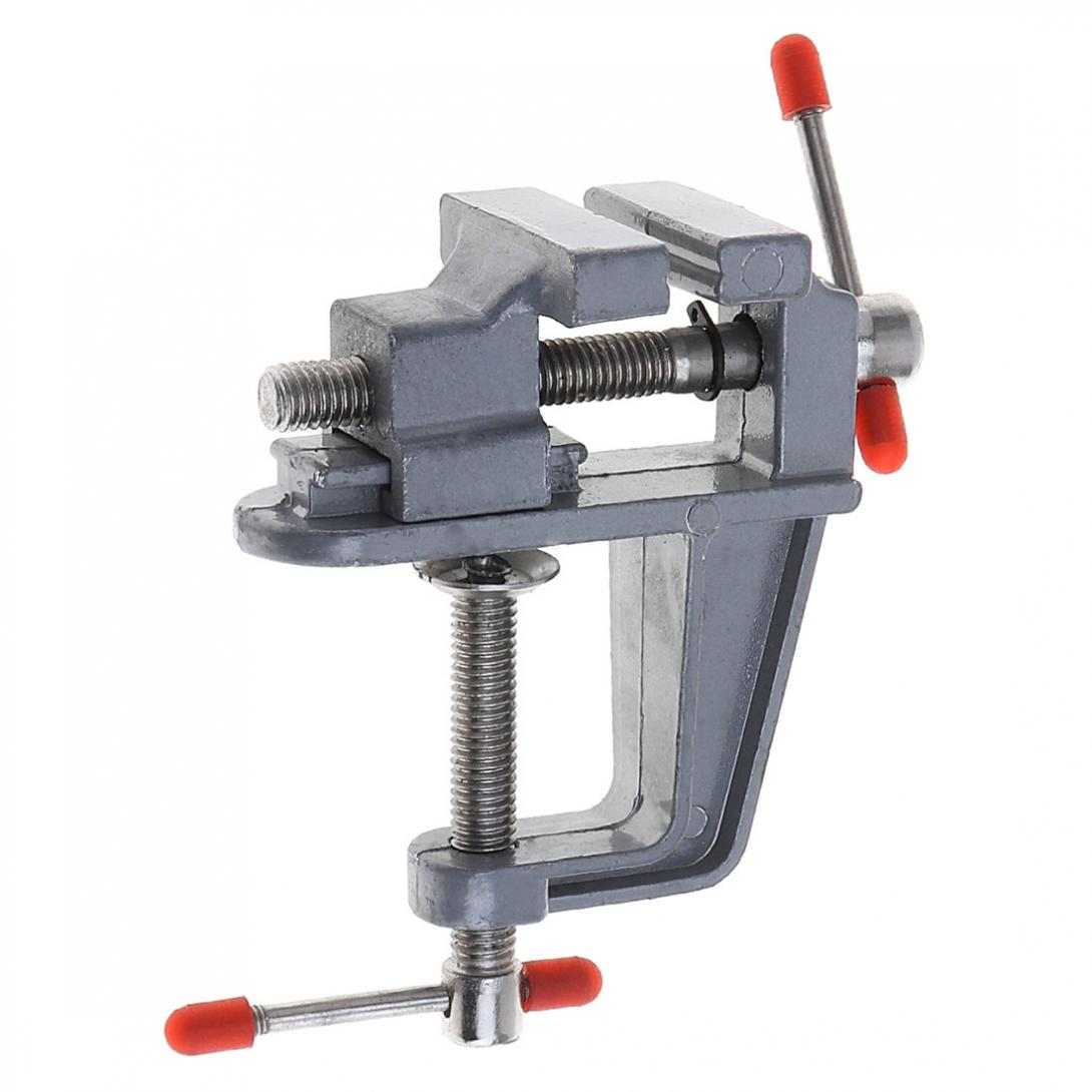 Mini Aluminum Alloy Portable DIY Jaw Bench Clamp Drill Press Vice Micro Clip For Clamping   Table / Water Pump