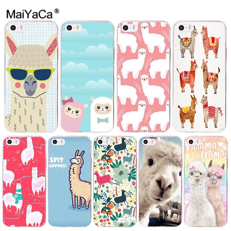 MaiYaCa cute animal the alpacas Alpaca Christmas Coque Phone Case for Apple iPhone 8 7 6 6S Plus X 5 5S SE 5C 4 4S Cover
