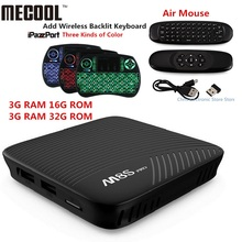 Натуральная mecool M8S Pro Android 7.1 TV Box BT 4.1 2 ГГц ARM Cortex-A53 Процессор 64bit 4 К 2 г 16 г 3 г 16 г 3 г 32 г HD