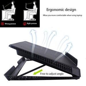 Image 5 - 6 LED Fan Cooling Pad Aluminum Laptop Cooler Pad Stand for 17 15.6 inch USB Cooler Notebook Base Holder Adjustable Speed