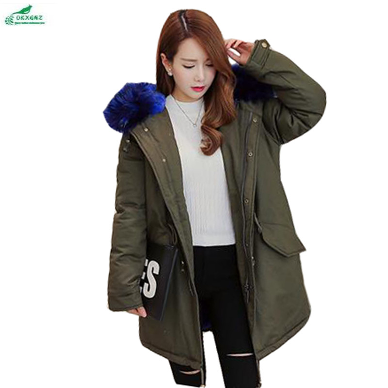 Mode Blue Red vent Taille Coréen Green Coupe Hiver Femmes Green Fourrure black À Manteau Survêtement red Army Blue Capuche Long Col Qq975 Gamme Grande Haut De And black Okxgnz qx8wFnwEf