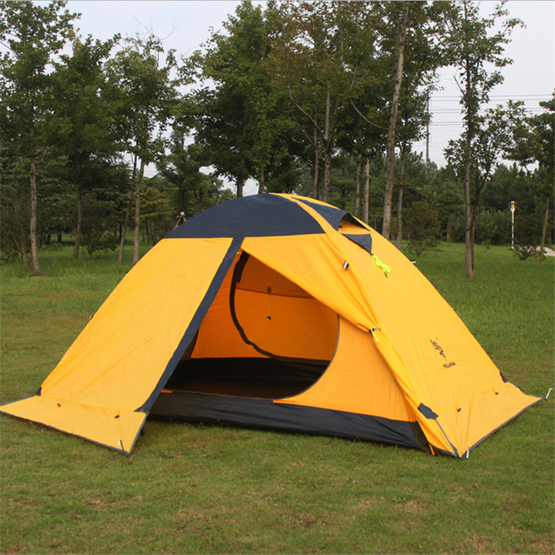 Super léger tente professionnelle imperméable à l'eau Double couche ignifuge 20D Silicone Nylon Fiber Camping en plein air ultra-léger