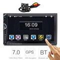 7 pulgadas 2 Din Car Audio Radio GPS de Navegación Con Pantalla Táctil Estéreo Del Coche 2Din Coche Reproductor de Vídeo FM RDS Bluetooth Control Remoto