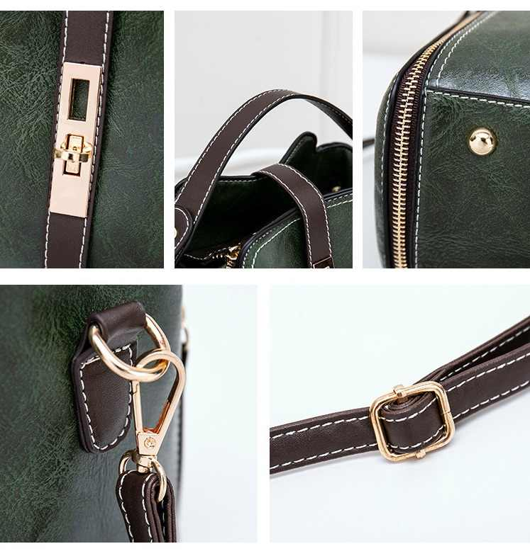 Lederen Kleine Mini Emmer Tas Vrouwen Messenger Bags 2018 Fashion Designer Crossbody Tassen Groene Schoudertassen Vrouwelijke Koreaanse C810