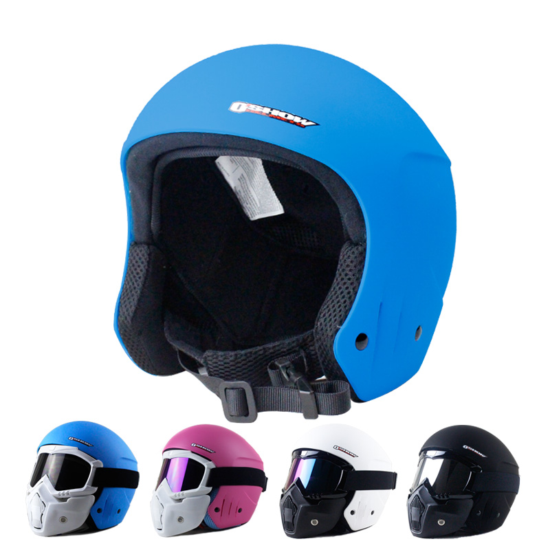 OSHOW Ski Helmet With Mask For Adults Full-Face Helmet Skiing Women Helmet Covers 56-62cm Head Free Shipping Face Shield free shipping new brand ski helmet with abs shell snowboard protection snowboardig skiing helmet with mirror for men women