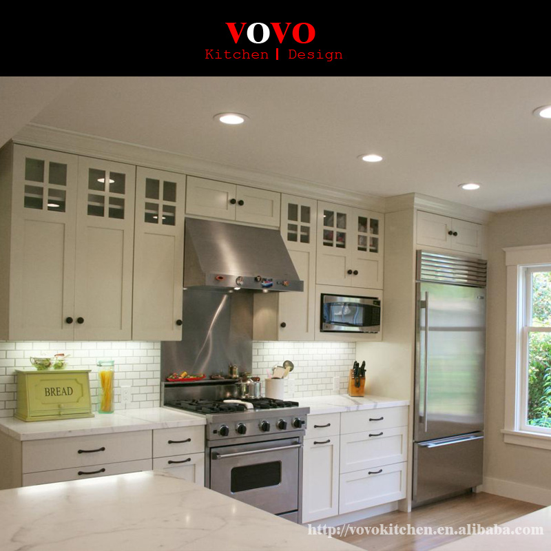 Lacquer And Wooden Veneer Kitchen Cabinet