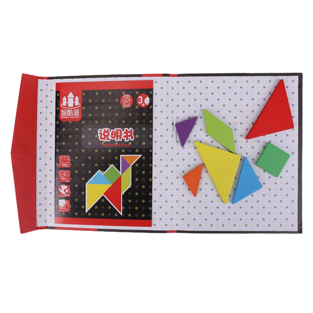 150 rompecabezas libro magnético Tangram juguetes desafío IQ Montessori libro educativo para niños regalo