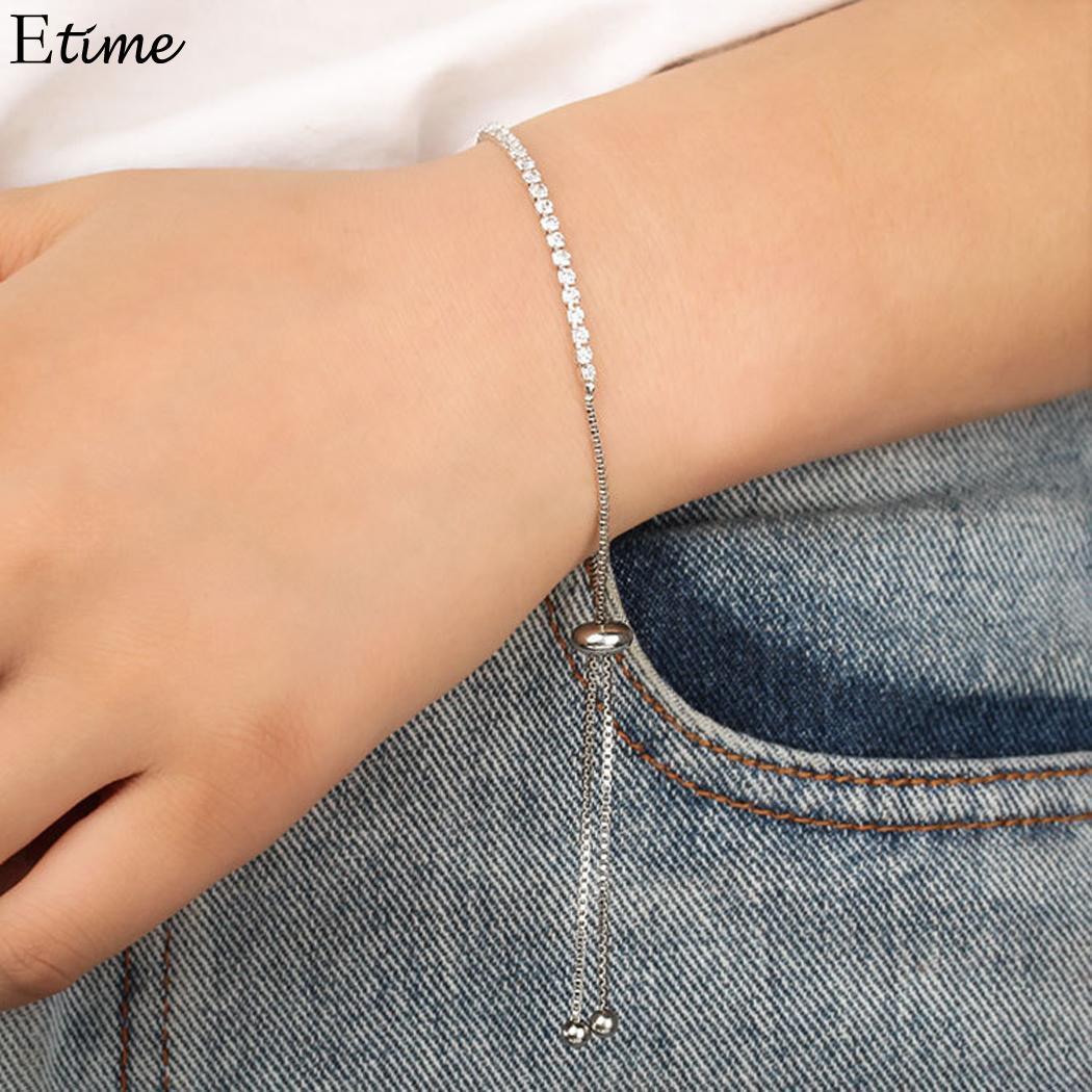 FANALA Adjustable Women Bracelets Rhinesto Cubic Zircon Crystal Female Bracelets Jewelry For Women Pulseras Mujer Charm Bracelet