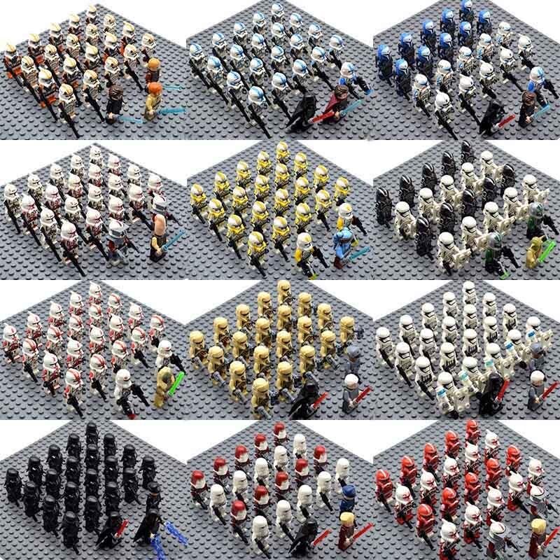 23pcs/set Star Wars Legion 41st Elite Corps Stormtroopers Snowtrooper Palpatine Yoda Anakin Building Blocks Bricks Toys