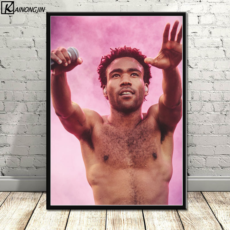Childish Gambino Music Singer Poster Wall Art Canvas Painting Posters and Prints Wall Picture Room Decorative Home Decor