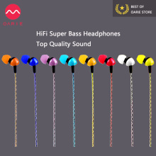 OARIE Stereo HiFi Earphone Clear Super Bass Headphones 3.5mm In-Ear Earbuds Headset Handsfree With Mic for Mobile Phone ipad MP3