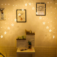 3M EU Plug LED Star String Curtain Lights Christmas Garland Outdoor Garland Fairy Light For Home Wedding Party Garden Decoration