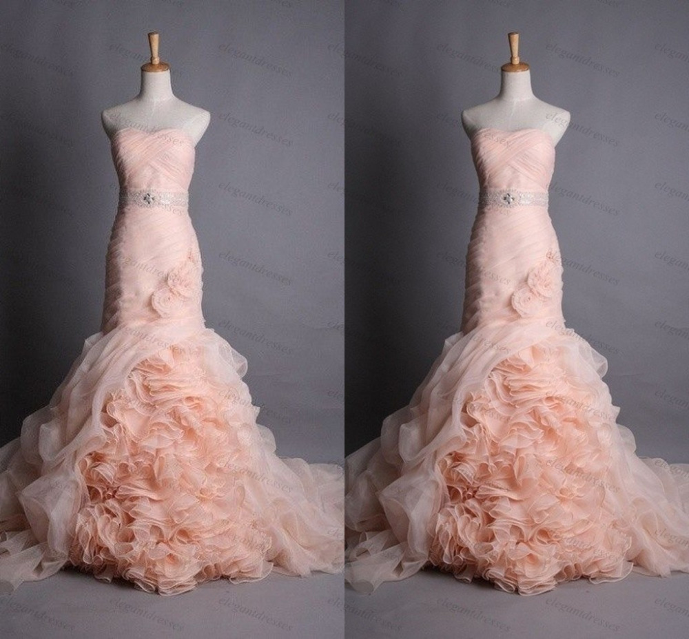 Compare Prices on Peach Wedding Dresses- Online Shopping/Buy Low ...