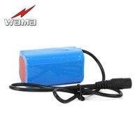 1x Wama 8000 mAh 3.7 V Li-Ion 4 serisi 4 S 18650 şarj edilebilir pil paketleri Için Acil Far LED el feneri 4 in paralel