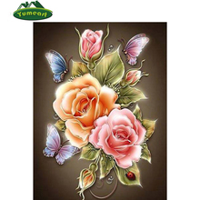 Butterfly Rose Flowers 3D diy diamond painting picture mosaic beadwork embroidery hobby crafts yarn home decoration cross-stitch