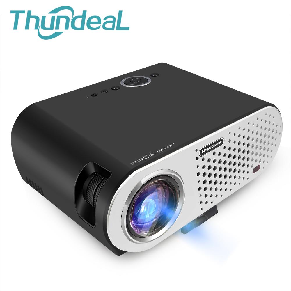 Prix pour ThundeaL GP90UP LED Android Projecteur 3200 Lumen GP90 Projecteur Intégré Bluetooth WIFI Beamer Proyector Soutien KODI AC3 LED TV