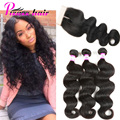 Brazilian Body Wave With Closure Mink Brazilian Virgin Hair With Closure Unprocessed Human Hair Body Wave 3 Bundles With Closure